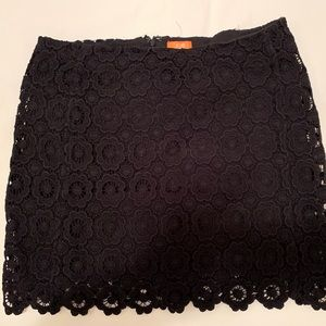 Cotton Lace Black Skirt